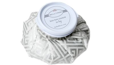 """Bella's Boo Boo Couture Ice Bag soothes anything that gives you an """"ouch."""" This stylish pack eases your pain and looks fabulous, even when you don't feel so fab. Use for headaches, pain, bruises, boo boos, and whatever ails you. Simply fill with ice and cold water – or use warm water for soothing heat therapy. Screw on cap and place wherever you hurt. $15 bellailfiore.com #icebag #icepack #easespain #bellailfiore"""
