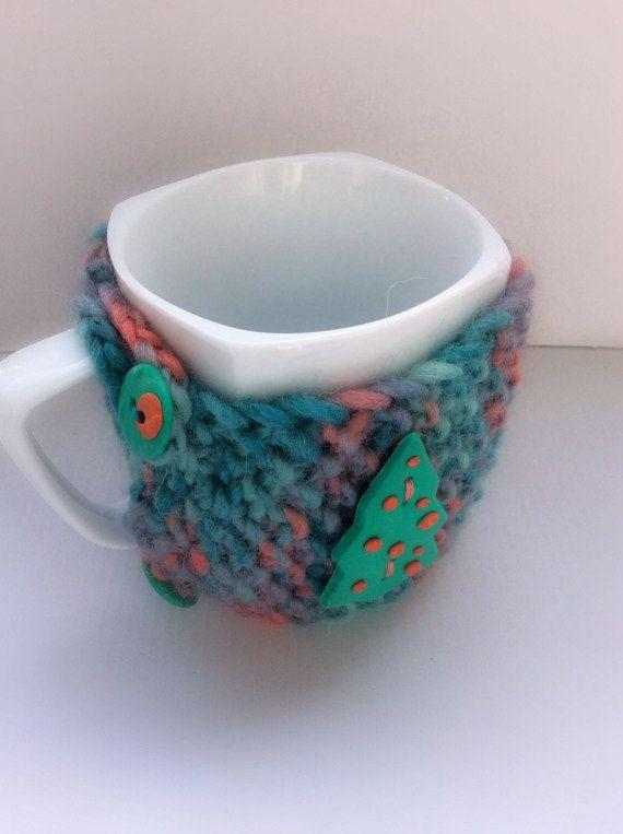 Mug CozyMug WarmerMug HugChristmas Mug CozyCrochet by Vissinokipos
