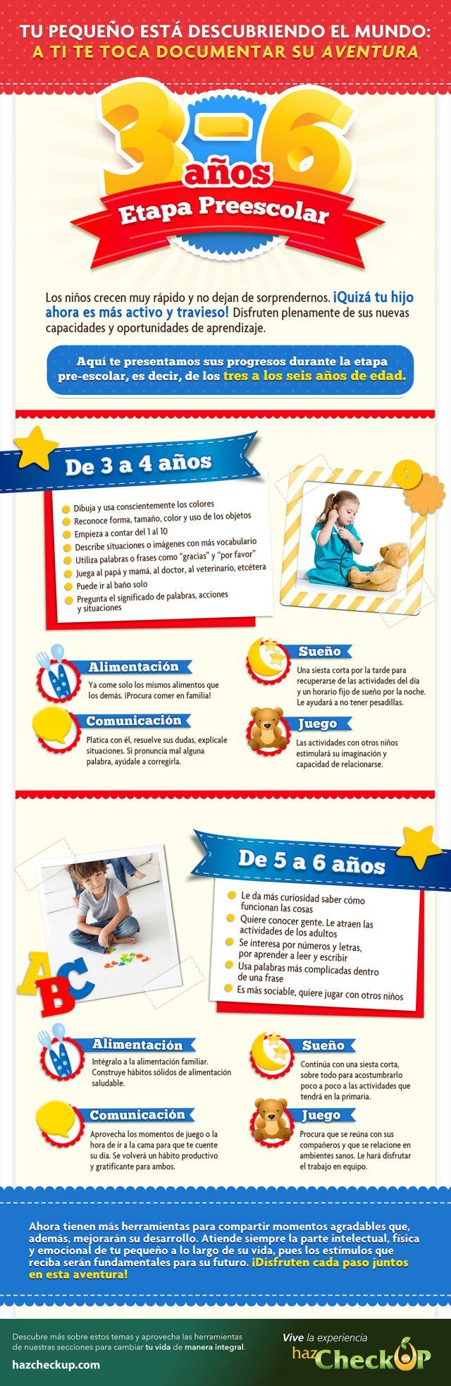La etapa preescolar de los niños (3-6 años)