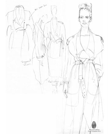Fashion Sketchbook - jacket design sketches - fashion drawings; fashion design development; fashion portfolio // Nicole Bradshaw