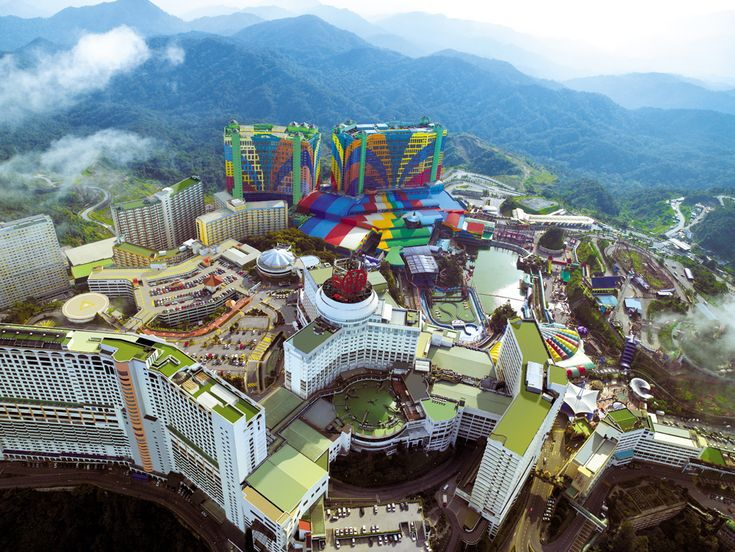 Situated 54 km north of Kuala Lumpur, Genting Highlands is the perfect escape for those seeking relaxation and entertainment in a cool montane setting.Genting Highlands is the most developed of the hill resorts in Malaysia, and was founded in 1965. Genting Highlands is situated about 2,000 meters above sea level and can be approached either from the state of Selangor or Pahang.