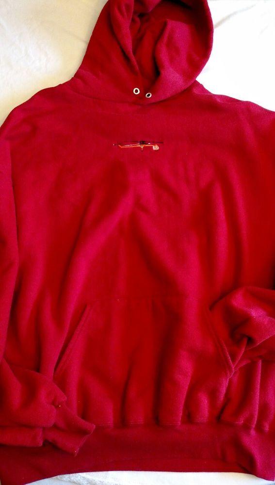 Jerzees Red Hoodie Erickson Air Crane Size 2X Unisex Red #JERZEES #HoodiePocketonFront