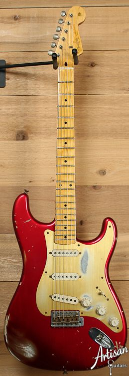 2010 Fender Stratocaster Relic 58 Reissue Limited Edition Candy Apple Red
