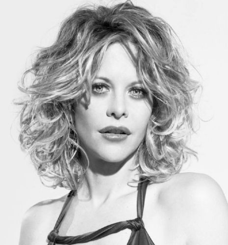 Medium Length Naturally Curly Hairstyles | Meg Ryan with medium long wavy and curly hairstyle picture
