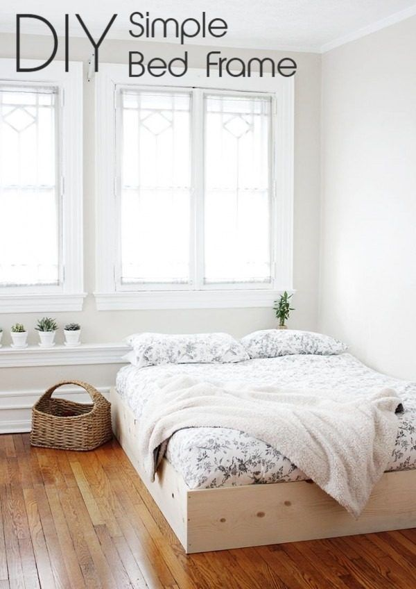 61 Easy Diy Bed Frames You Can Build On A Budget Simple Bed