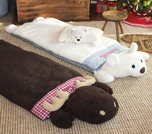 Sherpa Sleeping Bags | Pottery Barn Kids.  Going to figure out how to make this for less than $99!