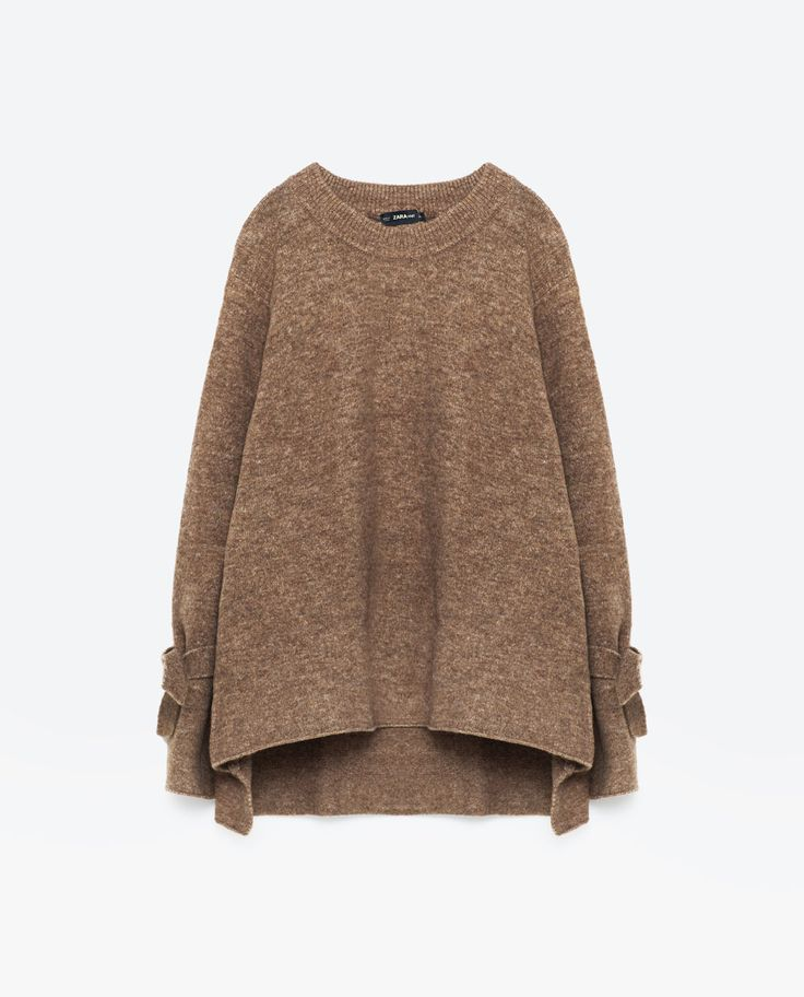 Image 8 of SWEATER WITH TIE DETAIL ON SLEEVE from Zara
