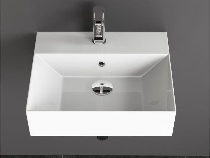 Aqua Bagno Keramik Waschtisch 50cm weiß Waschbecken...