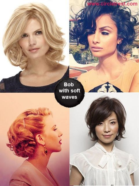 34 Curly Bob Hairstyle Ideas: Bob Hairstyles with soft waves