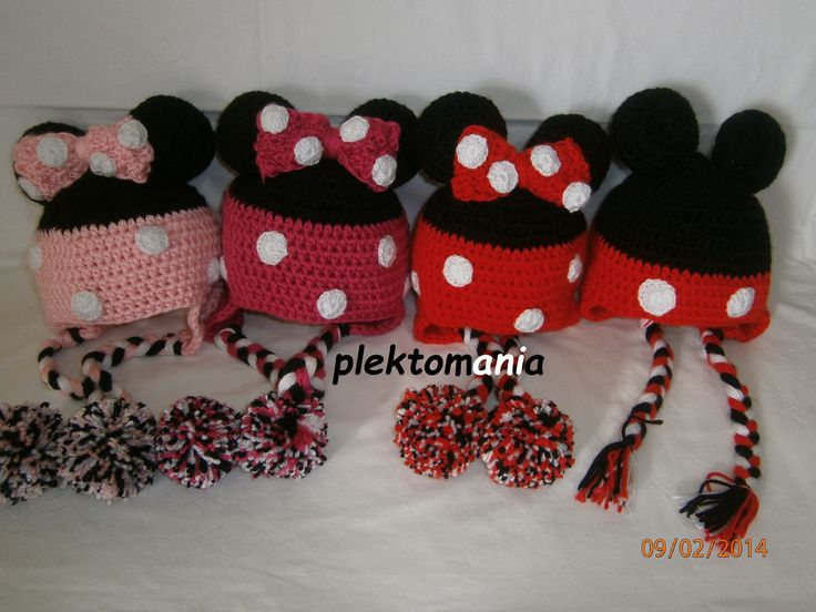 crochet Minnie mickey mouse meeting https://www.facebook.com/plektomania25