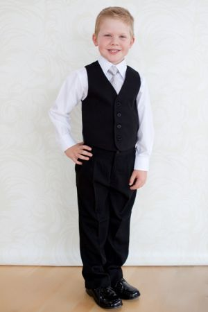 Boy's Black Trousers - Page Boy, Communion, Christening