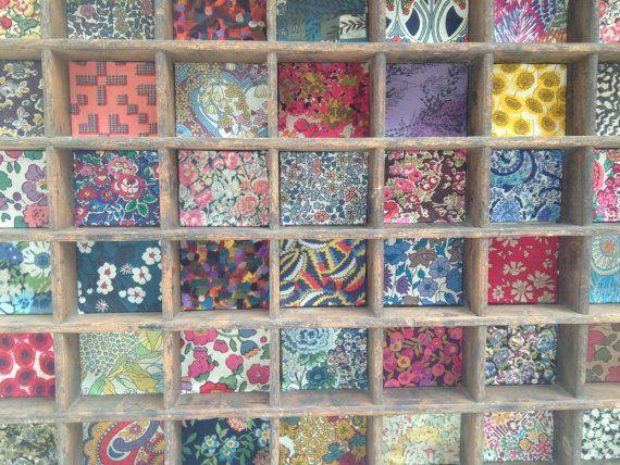 Printers tray with Liberty fabric | binkeeshop, Etsy