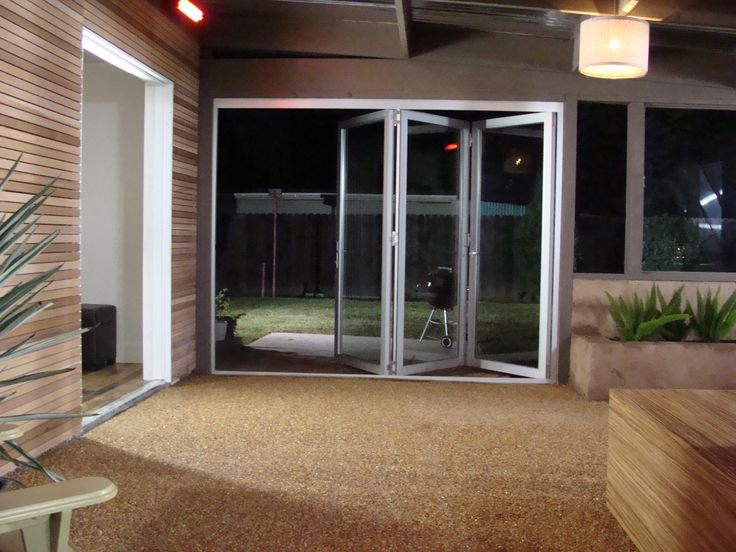 House Crashers Episode 113 - Indoor/Outdoor Lounge - Featuring LaCantina Aluminum Bifold System - #HouseCrashers #HGTV #LaCantina #Aluminum #Bifold #Doors #LiveTheLacantinaLife #OpenSpaces #Indoor #Outdoor #Experience #FamilyRoom #Patio #Modern #Design #Lounge #Stunning #View #Night #Moon #Light #Beautiful #Architecture #LifeStyle #PhotoOfTheDay
