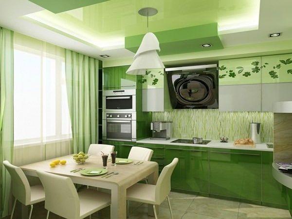 Сочетание различных оттенков зеленого позволяет создать интересную композицию