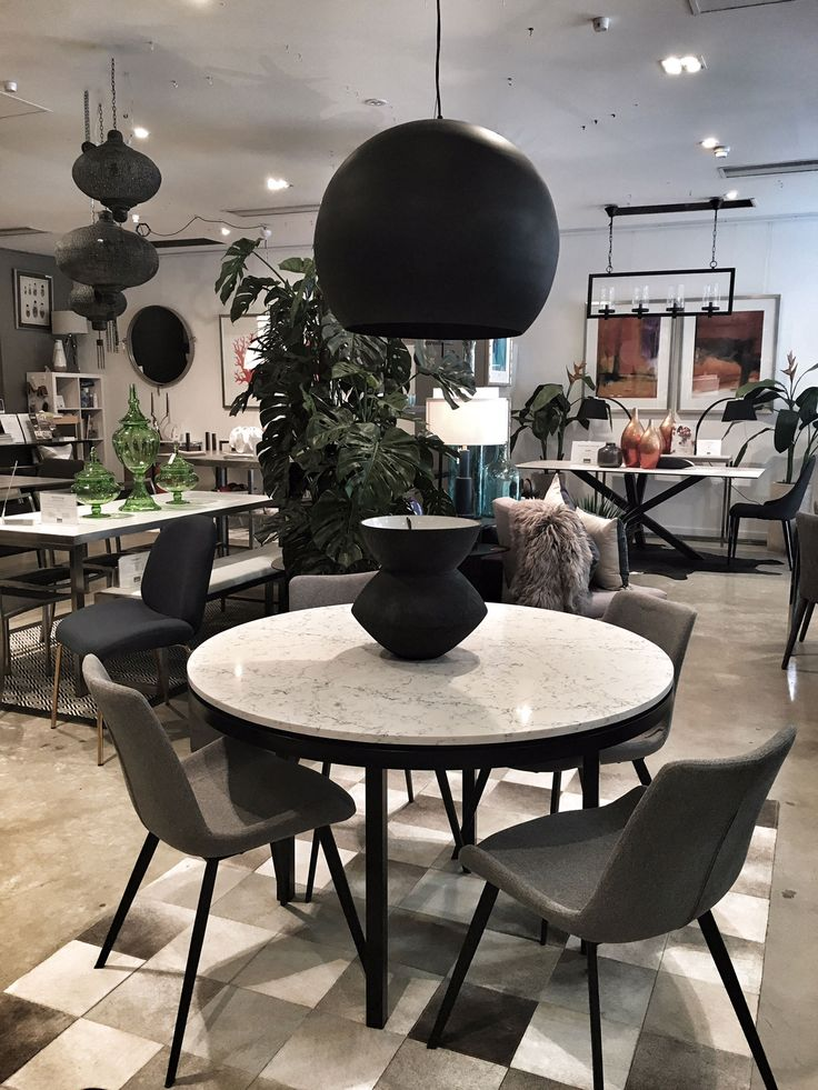All round beauty - Lulu Caesarstone 'Attica' dining with grey Cleo chairs