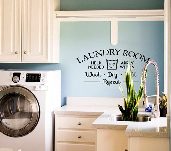 Laundry Room Help Needed Removable Vinyl Wall Art Traditional Wall Decals Part 79