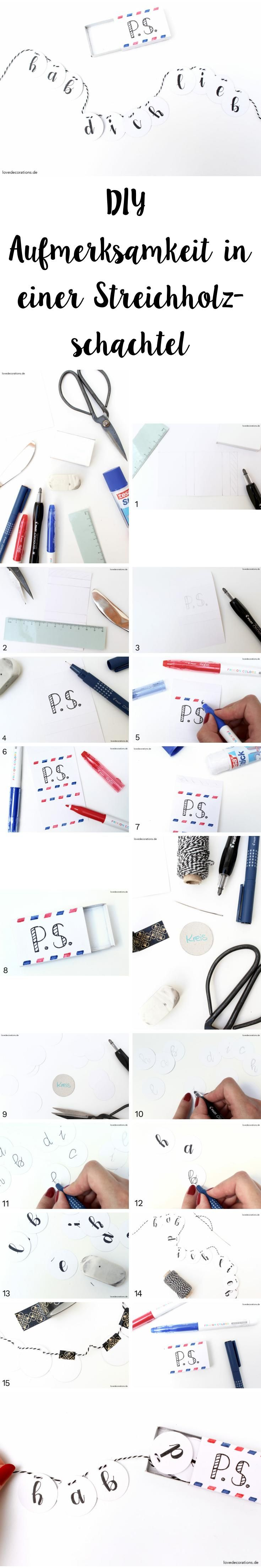 DIY Aufmerksamkeit in einer Streichholzschachtel   DIY Gift Matchbox