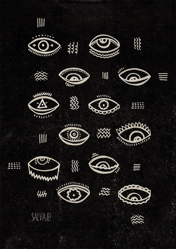 Eyes Print by SalvajeShop on Etsy, $20.00