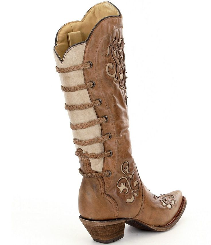 Corral Boots Inlay and Straps Boots