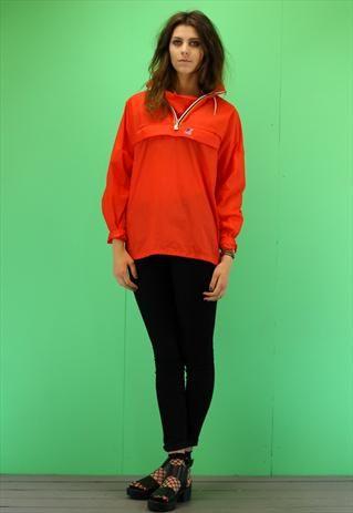 Womens Vintage 80 S Festival Kway Windbreaker Jacket A904