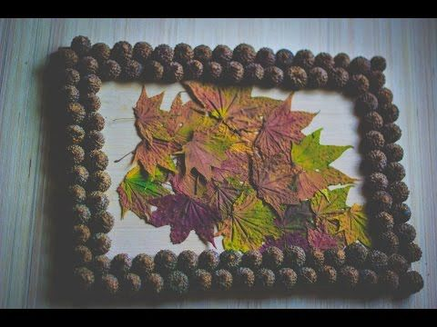 Как сделать панно своими руками из желудей и листьев. Осенние поделки из природных материалов. How to make a panel with your hands out of acorns and leaves. Autumn crafts made of natural materials.