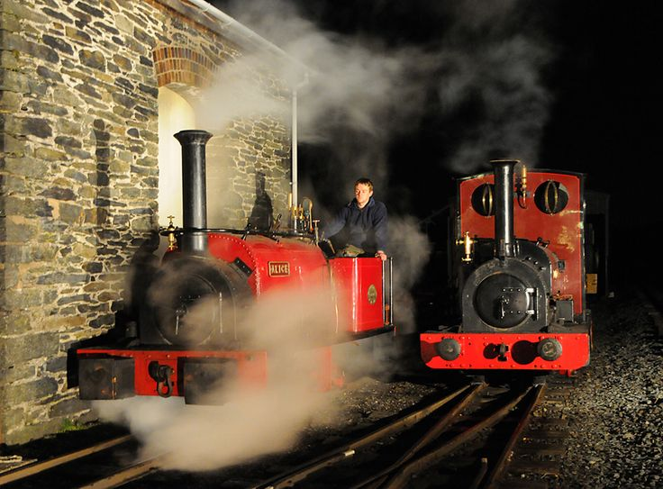 Sometimes our locomotives get to stay up late....