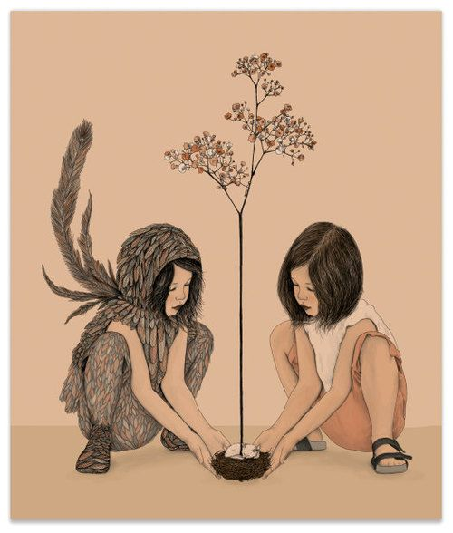 'Two Sides' Illustration by Gabriella Barouch