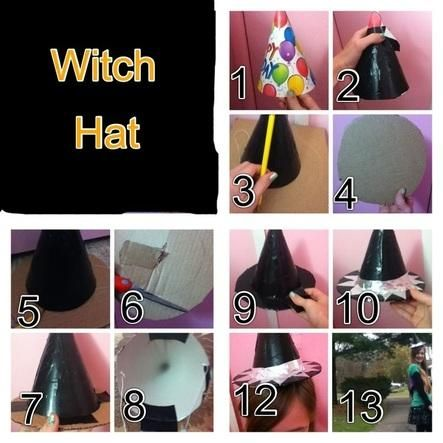 41 best halloween costume ideas images on pinterest costume ideas diy halloween diy witch hat great for neighbor kids without costume solutioingenieria Choice Image