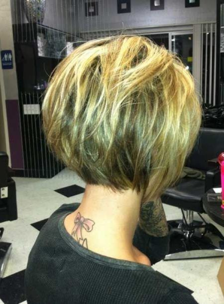short inverted bob haircuts back view For  Haircut Proper Hair for Casual Event