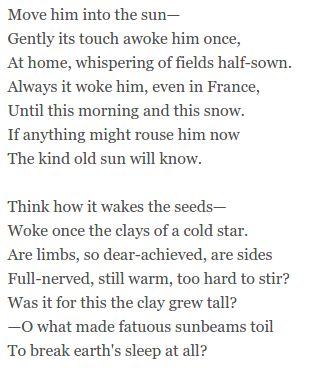 Futility by Wilfred Owen