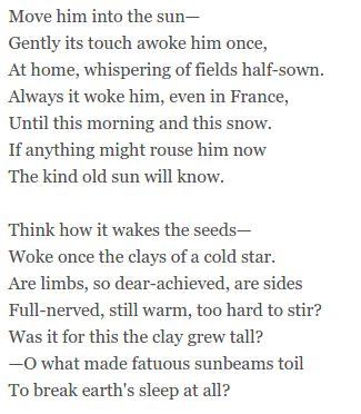 Futility by Wilfred Owen