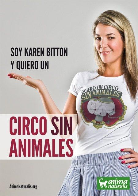 Karen Bitton invita a firmar por un #CircoSinAnimales en #Venezuela www.animanaturalis.org/n/41446