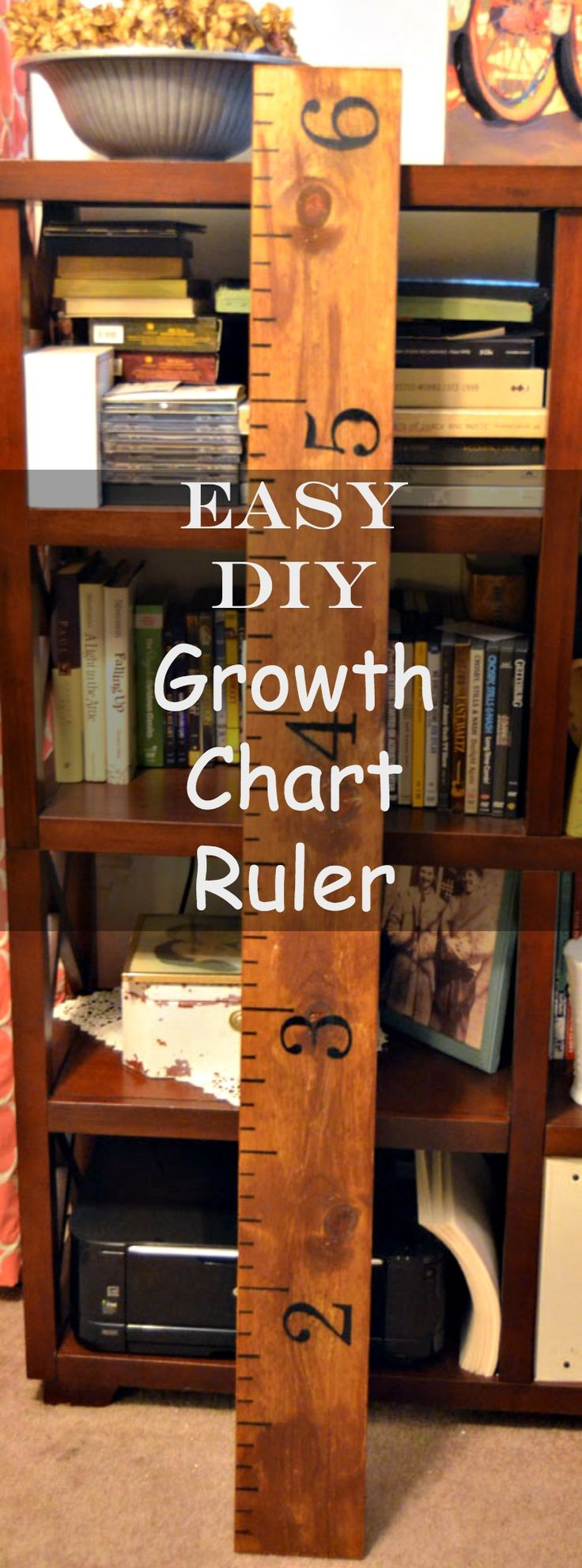 If you like it, please share it!Making one of these growth chart rulers has been on my to-do list for a long time. When I received an email notification that my daughter sent me three Pinterest pins that were images of growth chart rulers, I got the hint ; ) At first I thought I'd …