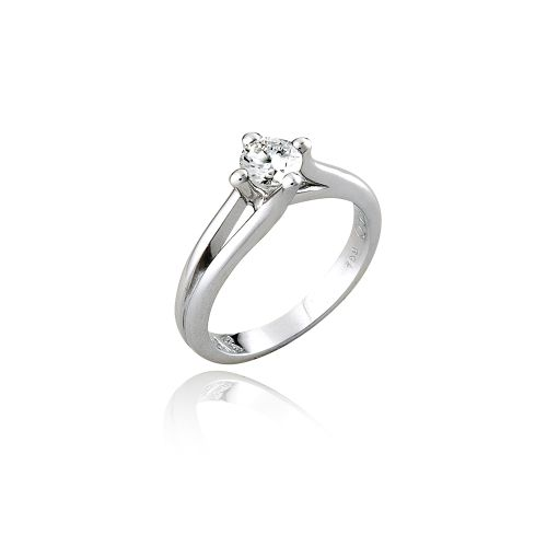 Love Rocks solitaire in 18KT white gold #Wedding #Bridal #Engagement #Ring