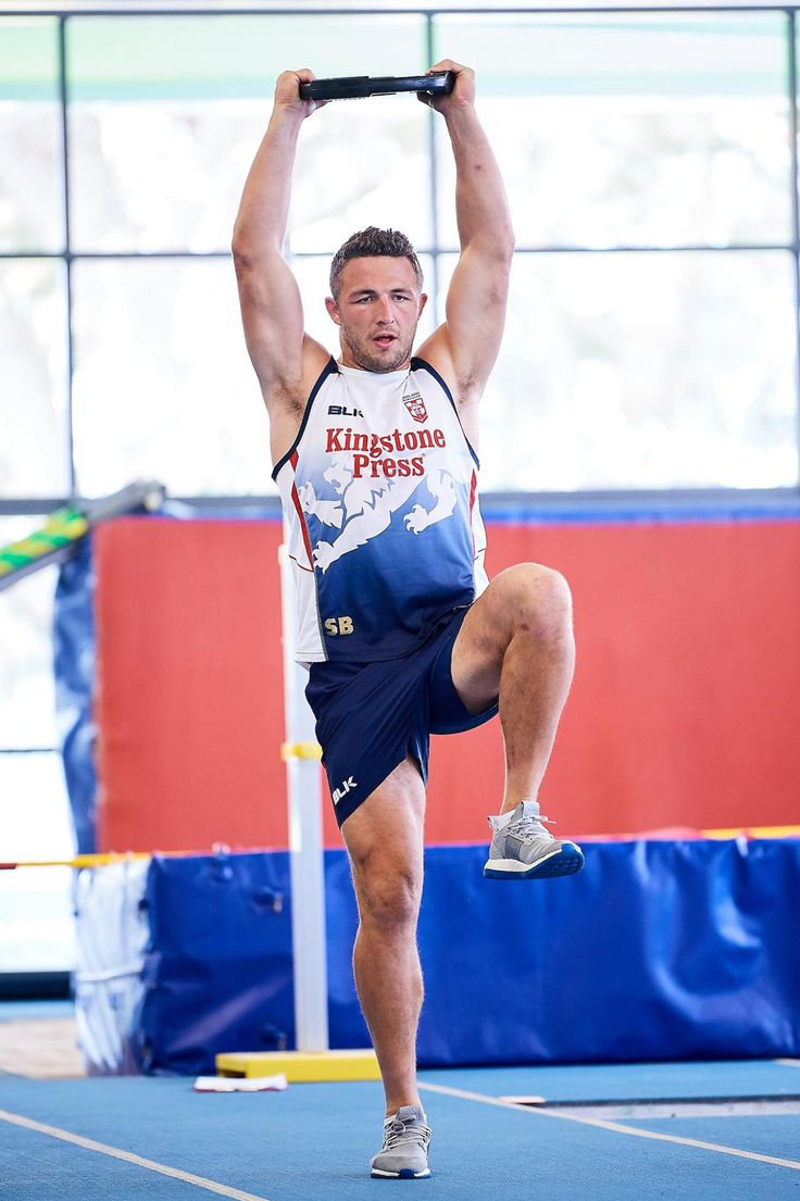 Footy Players: Sam Burgess of the English Rugby League World Cup...