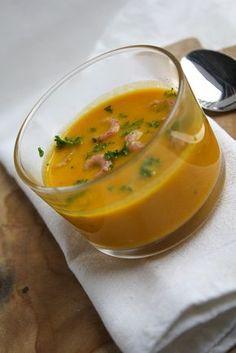 Pittige wortelsoep met garnaaltjes - Vertruffelijk !