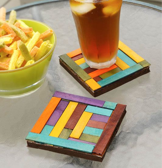 Make Dyed Wood Coasters They Are A Perfect Gift For Almost Everyone