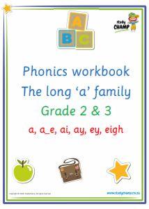 Phonics : Phonics: Long 'a' sound workbook