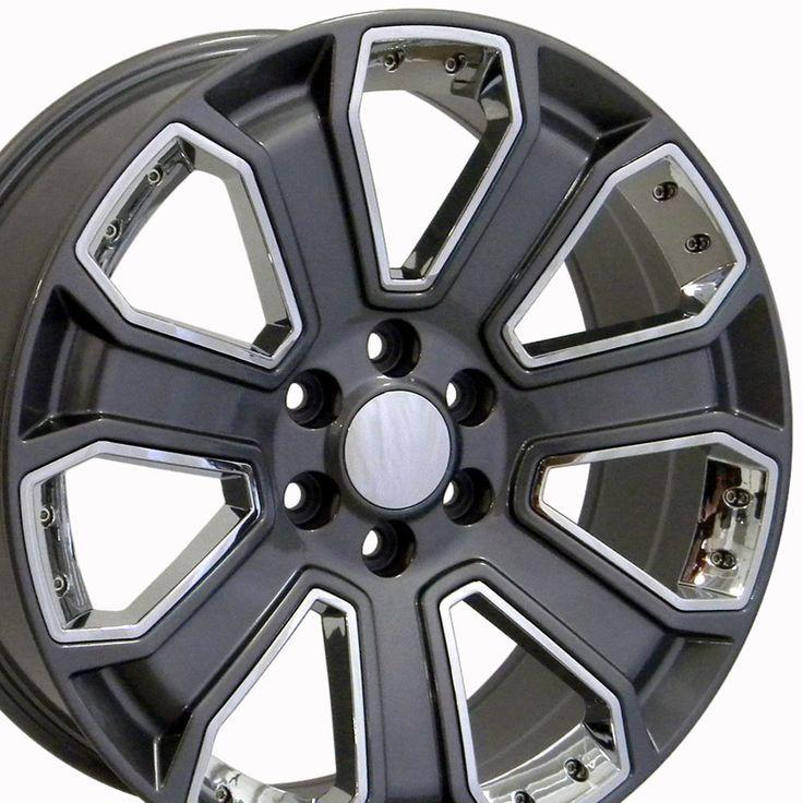 Rines Gunmetal Con Cromo 22×9 Para Chevrolet Silverado y Suburban 1999 – 2017