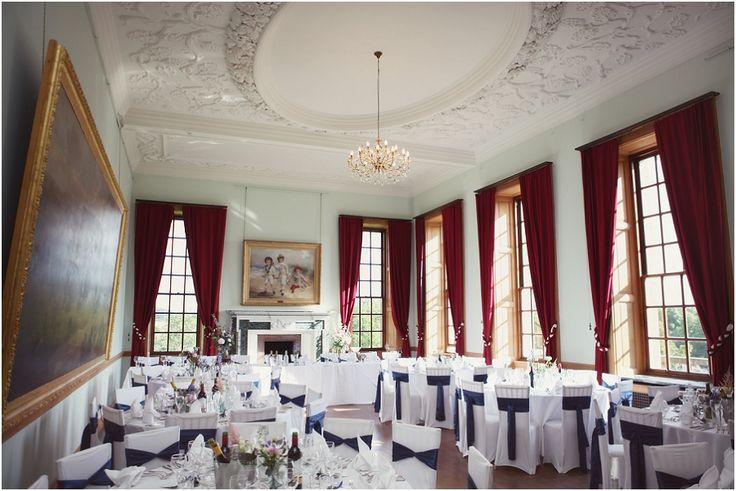The ballroom set for the wedding breakfast
