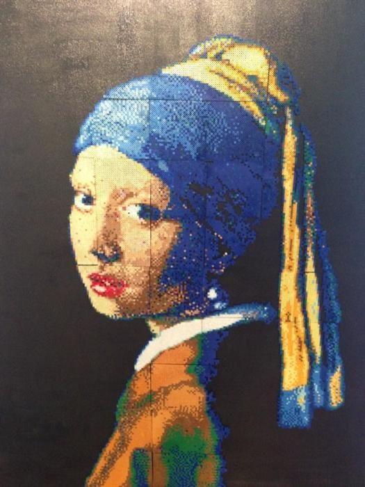 Girl with a Pearl Earring Vermeer  - Perler bead art by minami  - Perler® | Gallery