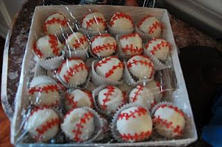 Cake pops for baseball season!