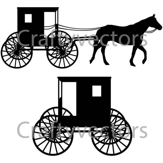 37+ Amish horse and buggy clipart information