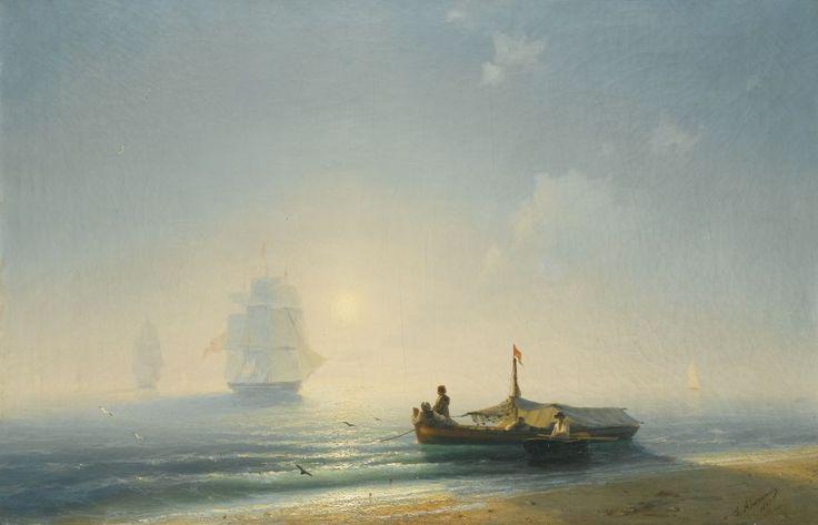 Ivan Aivazovsky FISHERMEN AT DAWN, NAPLES