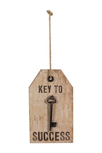 """Key to Success"" Wood Sign by Rustic Trading Decor on @HauteLook"