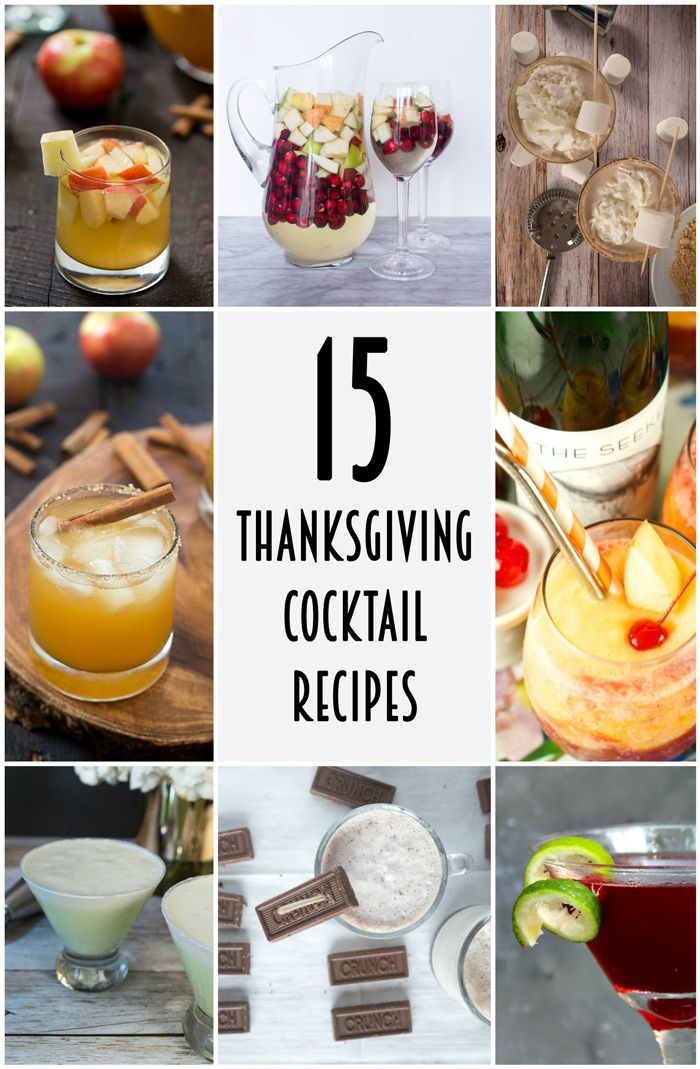 15 Thanksgiving Cocktail Recipes