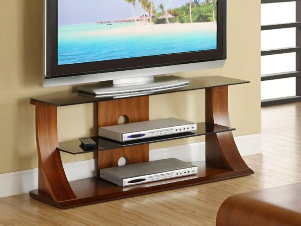 impressionnant meuble tv verre et bois d coration fran aise tv stand decor table design. Black Bedroom Furniture Sets. Home Design Ideas