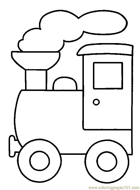 Train Coloring Page 06 Land Transport Free Printable