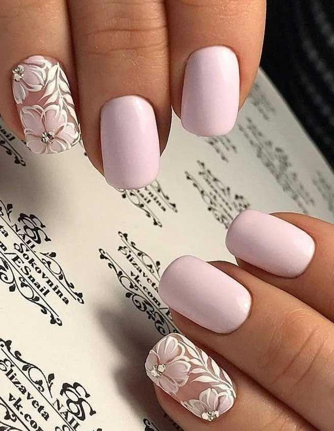 41 Gorgeous Wedding Nail Designs For Brides Bridal Nails 2019 Wedding Nails Bride Wedding Nails With Glitter Nails Fo In 2020 Nails Today Bride Nails Bridal Nail Art