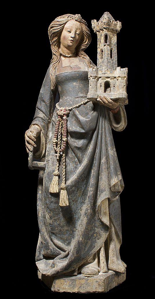 Saint Barbara (France du nord, ca. 1500, Metropolitan Museum of Art, New York)